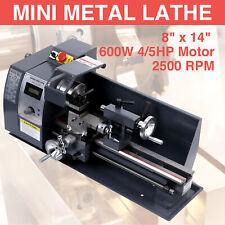 Digital Mini Metal Lathe Metalworking Diy Processing Variable Speed Bench 8x14�