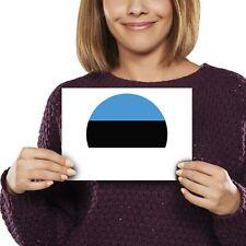 A5 - Estonia Europe Tallinn Flag Print 21x14.8cm 280gsm #9109