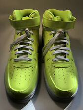 NIKE, AIR FORCE 1,  LIME GREEN, PATENT LEATHER, SIZE 10 US,   ORIG $100