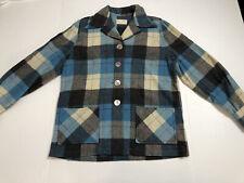 Vintage 60s Mid Century Shirt Pendleton 49er Padded Jacket Plaid Ladies Sm-Med