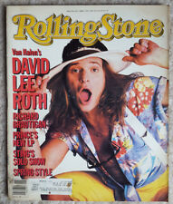 Van Halen david Lee Roth Prince Sting  Rolling Stone Magazine #445 April 1985