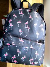 LARGE FLAMINGO  BACKPACK WITH HEADPHONE PORT /LAPTOP COMPARTMENT
