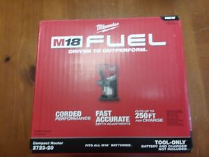 Milwaukee 2723-20 M18 FUEL Li-Ion Compact Router Brushless Cordless New
