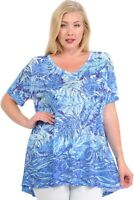 Blue Leaves Wave Soft n light weight One By One Print Sublimation Print MST-R346