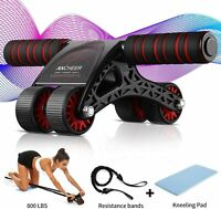 ANCHEER Abdominal Muscle Wheel,AB Wheel Roller with 4 Wheels and Resistant Bands