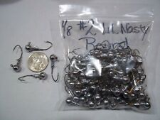 1/8oz #2 Round Head Lead Head Jig Eagle Claw Lil Nasty Sickle - Bronze 100ct