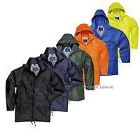 Waterproof Rain Jacket Coat Roll Away Hood Back Yoke Taped Seams Workwear S440