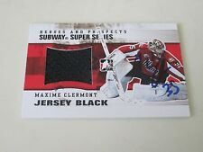 MAXIME CLERMONT AUTOGRAPHED 2010 ITG SUBWAY SUPER SERIES GAME USED JERSEY CARD