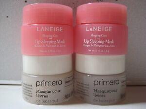 4 pc Set PRIMERA Natural Clean Berry Lip Mask + LANEIGE Sleeping Lip Mask ~ New!