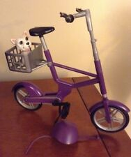 My Scene Barbie Doll Ride In The Park PURPLE BICYCLE with Helmet & Dog