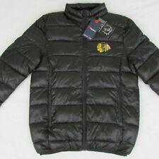 Chicago Blackhawks Fanatics Black Polyester Puffer Jacket Mens Medium NHL