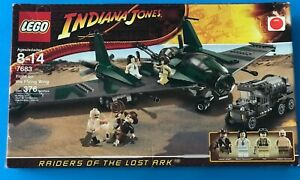 INDIANA JONES LEGO 7683 FIGHT ON THE FLYING WING SEALED BOX
