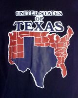 vtg 70s 80s soft thin NOS NWOT United States of Texas T-Shirt Iron On indie XL