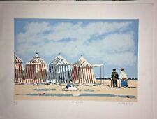 "McDuff, Frederick ""TIDE POOLS"" classic French seaside/original serigraph/signed"