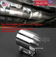 """Stainless Butt Joint Clamp Sleeve Band Strap For BMW 2.25"""" Exhaust OD Pipe"""