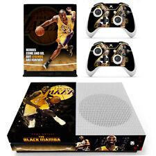 Xbox one S Slim Kobe Bryant Black Mamba Skin Stickers Decals for Console Remotes