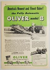 1949 Print Ad Oliver Tractor Pulls Fully Automatic Model 8 Hay Baler Chicago,IL