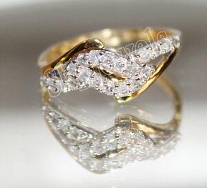 IGI Certified 0.43ct Natural Round Diamond 14K Solid Yellow Gold Wedding Ring