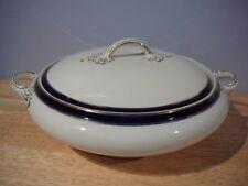 """Vintage Alfred Meakin Covered Vegetable Bowl """"Bleu de Roi"""" England"""