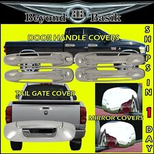 02-08 DODGE RAM 1500 2500 3500 Chrome 4 Door Handle(1KEY)+Mirror+Tailgate COVERS