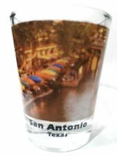SAN ANTONIO TEXAS RIVER WALK COLOR PHOTO SHOT GLASS SHOTGLASS