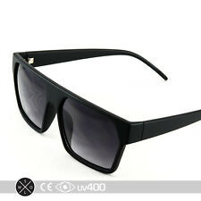 Trendy Matte Black Flat Top Hipster Fashion New Sunglasses Glasses S093