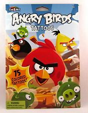 ANGRY BIRDS 75 Temporary Colored Tattoos by Cra-Z-Art Party Favors Goody Bags