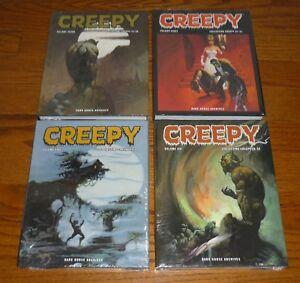 Creepy Archives Volumes 5,6,7,8, SEALED, Warren, Dark Horse, hardcover books