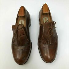 Vtg John Lobb Custom Bespoke Brogues Oxford Brown Leather Lace-Up Shoes 950.