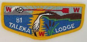 OA Taleka Lodge 81 Pre-fdl Flap YEL Bdr. Okaw Valley, Illinois [TK-395]