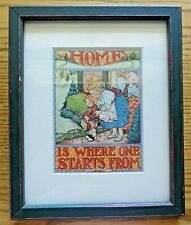 "Mary Engelbreit ""Home is Where One Starts From"" Framed Print (9""x11"")"