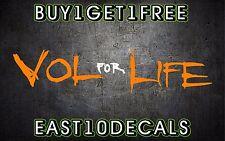 Vol For Life UT Tennessee Tri Star state flag vinyl car sticker decal vols TN