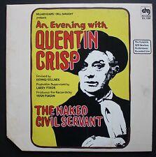 Quentin Crisp Spoken Word Live 2LP Homosexual Gay 1979