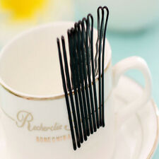 60pc Fashion Invisible Flat Top Bobby Pins Grips Hair Clips Black Salon Barrette