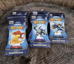 Skylanders Battlecast Booster Pack Pop Fizz,Jet Vac,Eruptor Lot of 15 Packs