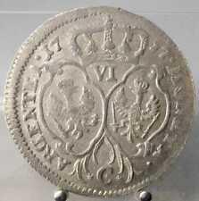 6 Kreuzer 1757 C, Brandenburg-Preussen, Kleve, Friedr. II., Silber