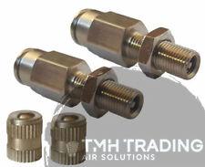 2x 6MM Schrader Valve Tyre Valve to 6mmAir Line Hose - Air Suspension Repair Kit