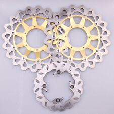 Golden Front Rear Brake Discs Rotors Kit fit For 2006-2007 Honda CBR1000RR 06 07