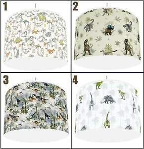 """TROPICAL DINOSAURS DINOS  Ceiling Light Lampshade  4 DESIGNS IN 2 SIZES 10"""" 12"""""""