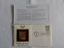 First Day Of Issue 2002 Hawaiian Missionaries Gold 13 Cent Stamp