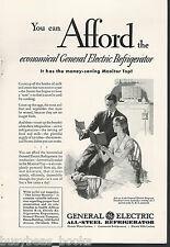 1930 General Electric Refrigerator advertisement, MONITOR-TOP fridge, GE