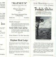 '38 Wyoming Bighorn Mountain Trailside Studio Rest Stop Yellowstone Brochure 1D
