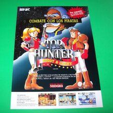 TOP HUNTER Original Arcade Flyer Neo Geo SNK 1994 NOS Video Game Spanish Text