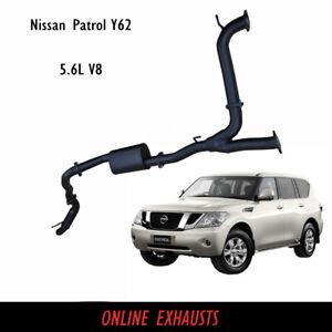 Nissan Y62 Patrol 5.6L V8 Cat Back Exhaust 3 inch with Hotdog Resonator