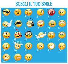 FELPA CON CAPPUCCIO  S - M - L - XL  SMILE  EMOTICON EMOTION FACCINA MESSENGER