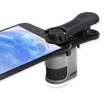 Carson Taschenmikroskop 20x für iPhone Samsung Smartphones LED / UV Clip On