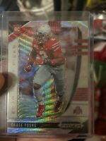 CHASE YOUNG SILVER WAVE PRIZM ROOKIE CARD SP #/299 OSU RC WASHINGTON 2020 Prizm
