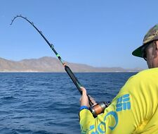 """Saltwater Offshore Casting Fishing Rod 7'6""""1PC Saltwater Fishing Rod 80-130LB"""