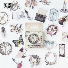 Travel Sticker Vintage Collection DIY Journal Diary Scrapbooking Craft 45pcs