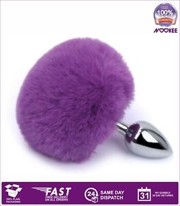 METAL ANAL BUTT PLUG WITH BUNNY TAIL +  FREE LUBE  100% DISCREET SHIPPING